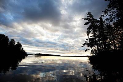 Sunset At The Lake Photograph - Rainy Lake Bay by Lori Knisely