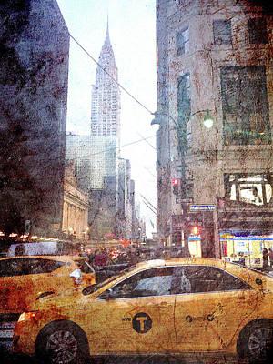 Rainy Digital Art - Rainy Madison Avenue by Acosta