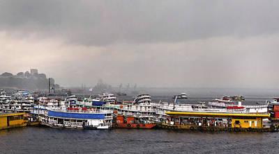 Photograph - Rainy Manaus Harbor by Deborah Smith
