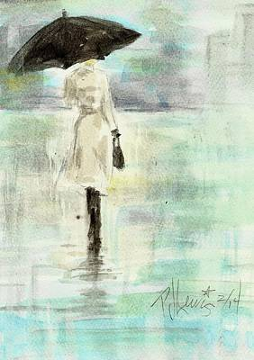 Rainy Monday Art Print by P J Lewis