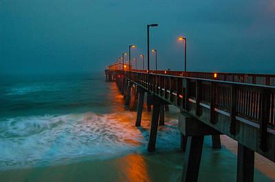 Pier Digital Art - Rainy Morning At The Pier by Michael Thomas