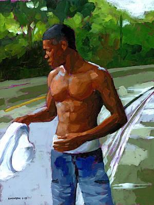 Caribbean Painting - Rainy Morning Study by Douglas Simonson