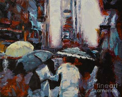 Painting - Rainy New York by Laura Toth