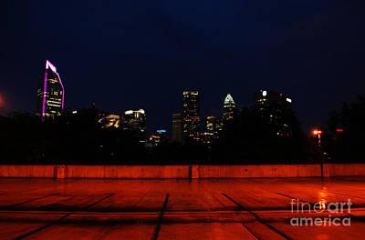 Charlotte Photograph - Rainy Night In Charlotte by Manda Renee