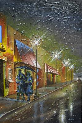 Nightlight Painting - Rainy Night In Georgia by Maceo Rogers