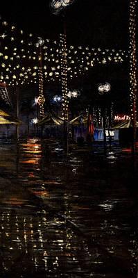 Rainy Night In Orlando Art Print