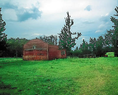 Bucolic Photograph - Rainy Pasture by Terry Reynoldson