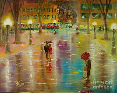 Painting - Rainy Reflections by Chris Fraser