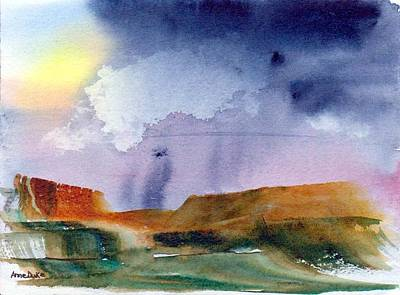 Art Print featuring the painting Rainy Skies by Anne Duke