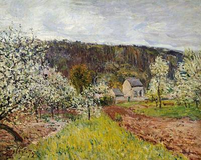 Rainy Spring Near Paris Art Print by Alfred Sisley