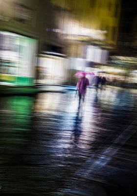 Art Print featuring the photograph Rainy Streets by Alex Lapidus