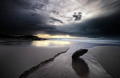 Coast Wall Art - Photograph - Rainy Sunset by Santiago Pascual Buye