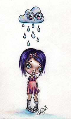 Big Eye Art Mixed Media - Rainy Wednesday by Lizzy Love