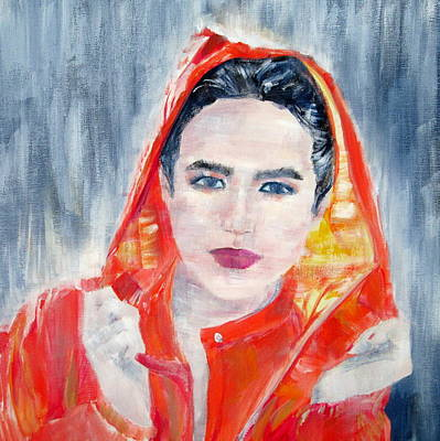 Raincoats Painting - Rainy Woman by Fabrizio Cassetta