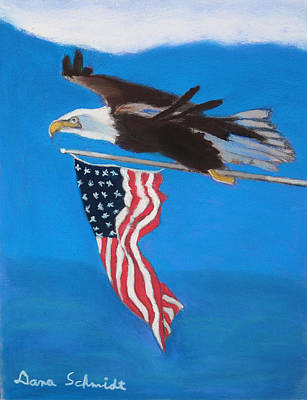 Painting - Raise The Flag Up High by Dana Schmidt