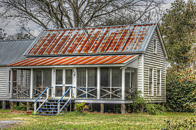 Raised Cottage With Tin Roof Art Print by Lynn Jordan