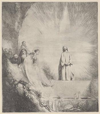 Raising Drawing - Raising Of Lazarus, Jan Lievens by Quint Lox
