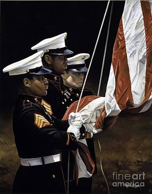 Painting - Raising Of The Colors by Paul Collins