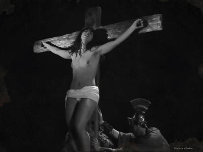 Crucifixion Wall Art - Photograph - Raising The Cross by Ramon Martinez