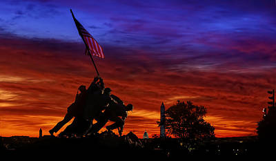 Photograph - Raising The Flag - Cabeca Order by Metro DC Photography