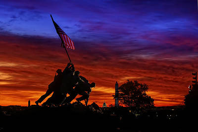 Raising The Flag Art Print by Metro DC Photography