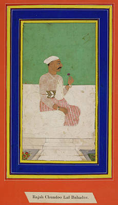 Aristocrat Photograph - Raja Chandu Lal by British Library