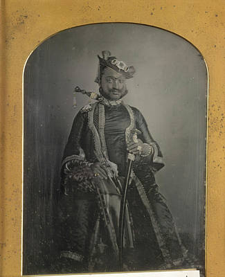 Daguerreotype Photograph - Raja Of Dhar by British Library
