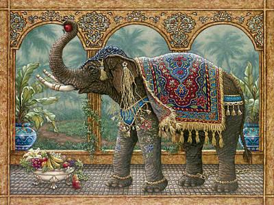 Gold Chain Painting - Rajah's Feast by Janet  Kruskamp