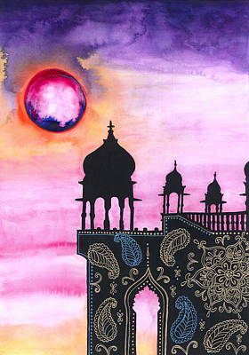 Contemplative Mixed Media - Rajasthan Sunset by Cat Athena Louise