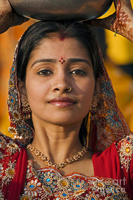 Photograph - Rajasthani Beauty - Mewar Festival - Udaipur India by Craig Lovell