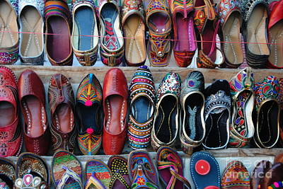 Photograph - Rajasthani Shoes by Jacqueline M Lewis