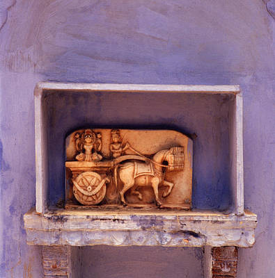 India Photograph - The Temple Niche by Shaun Higson