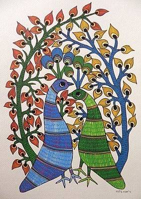 Gond Painting - Raju 131 by Rajendra Kumar Shyam