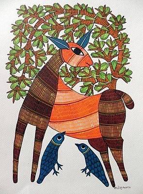 Shyam Painting - Raju 142 by Rajendra Kumar Shyam