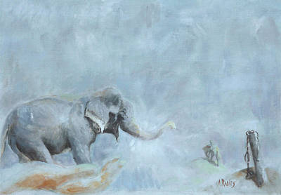 Painting - Raju's Celebration by Ann Radley