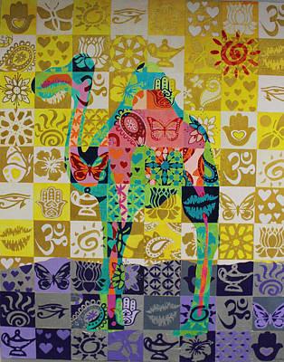 Fatima Painting - Rak Camel by Debra Crary