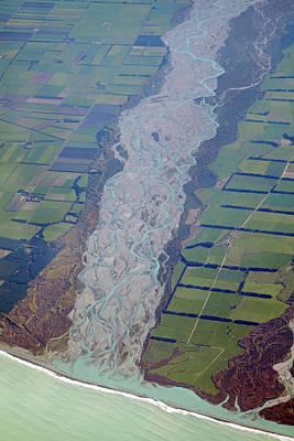 Rakaia River, And Canterbury Plains Art Print by David Wall
