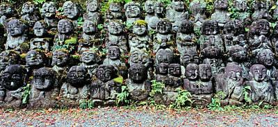 Repetition Photograph - Rakan Sculptures At Otagi Nenbutsu-ji by Panoramic Images