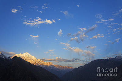 Rakaposhi Mountain In The Karakorum Pakistan Art Print by Robert Preston