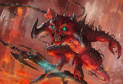 Wall Art - Digital Art - Rakdos Cackler by Ryan Barger