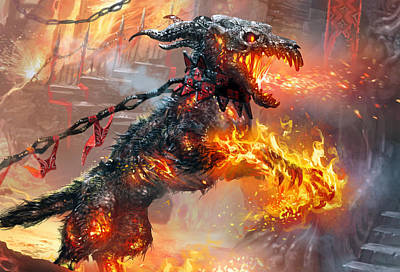 Wall Art - Digital Art - Rakdos Ragemutt by Ryan Barger