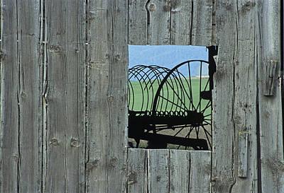 Abandoned Barn Photograph - Rake And Barn by Latah Trail Foundation