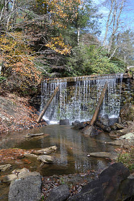Photograph - Rake's Mill Pond Dam by rd Erickson