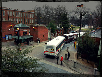 Photograph - Raleigh Bus Terminal - Evening by Paulette B Wright