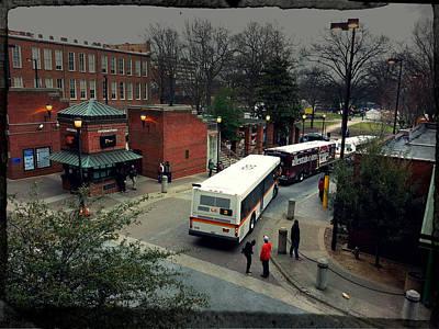 Asphalt Digital Art - Raleigh Bus Terminal by Paulette B Wright