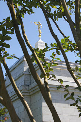 Raleigh Nc Lds Temple Art Print by Nathanael Verrill