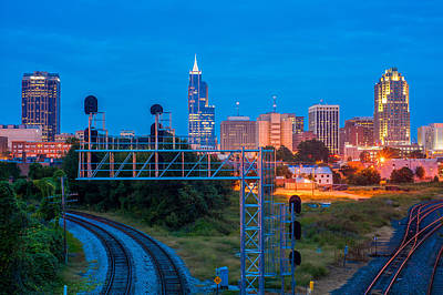 Photograph - Raleigh Skyline 2 by Joye Ardyn Durham