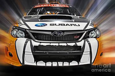 Subaru Rally Photograph - Rally Cross by Tom Gari Gallery-Three-Photography