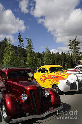 Photograph - Rally Of Classic Cars In Banff by Brenda Kean