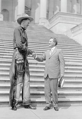 Ralph Madson And Us Senator Art Print by Library Of Congress